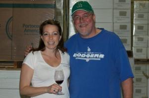 Syrah fan and Bob Lindquist (photo credit: Michael Wilsker pixillusion.com)