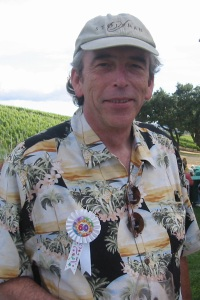 Tom Stolpman celebrating his 60th with friends in his vineyard.
