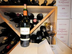 1995 Antinori Solaia - one of the most famous Super Tuscan wines in the world