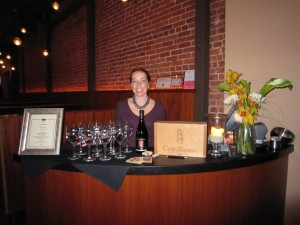 Pouring Consilience wines at Blush in Santa Barbara