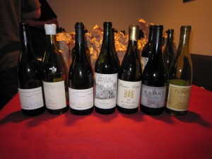 After the reveal - the Chardonnays