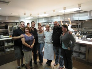 The food groupies with chef Bradley Odgen.