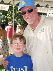 Bob Lindquist winemaker/owner of Qupe and his son Theo