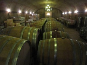 The cave at Grassini Family Vineyard