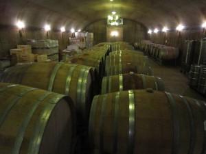 The cave at Grassini Family Vineyard